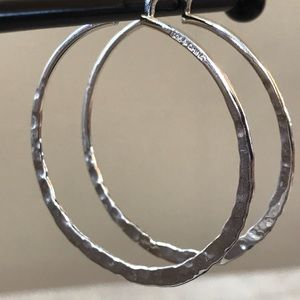 Silpada Jewelry - Silpada Hammered Hoops Earrings 925